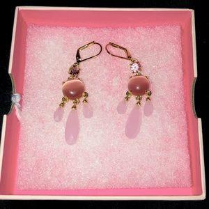 Kate Spade pink dangle earrings